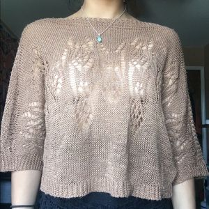 Knitted brown top